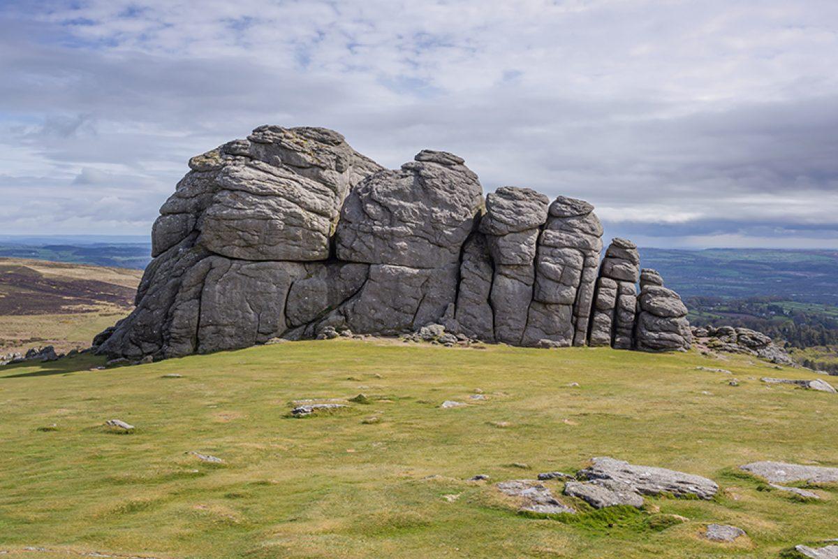 Haytor Rocks in Dartmoor National Park